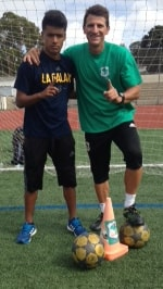 Image of Coach Gerhard and Top Student Uly